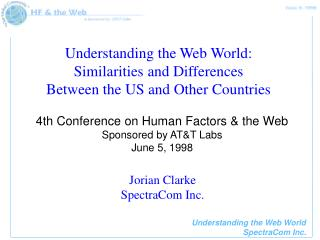 Understanding the Web World: Similarities and Differences Between the US and Other Countries