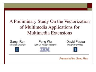 A Preliminary Study On the Vectorization of Multimedia Applications for Multimedia Extensions
