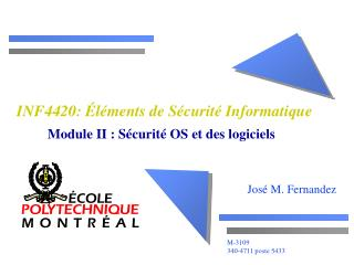 INF4420: Éléments de Sécurité Informatique