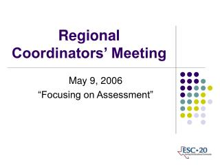 Regional Coordinators' Meeting