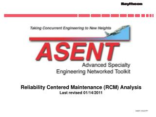 Reliability Centered Maintenance RCM Analysis Last revised 01