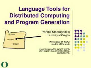 Language Tools for  Distributed Computing  and Program Generation