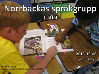 Norrbackas språkgrupp Träff 3