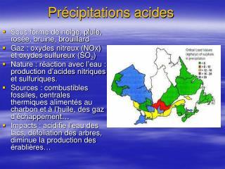 Pr�cipitations acides