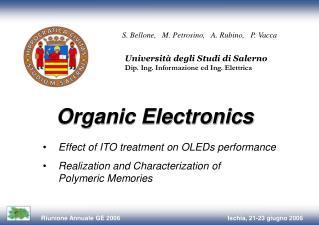 Università degli Studi di Salerno Dip. Ing. Informazione ed Ing. Elettrica