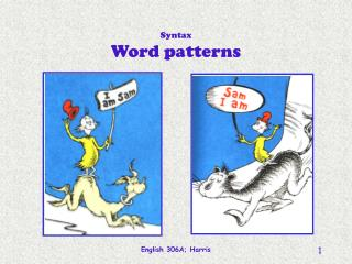 Syntax Word patterns