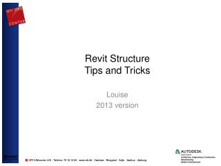Revit Structure  Tips and Tricks