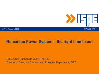 Romanian Power System – the right time to act