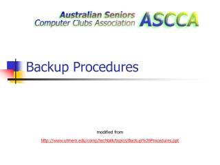 Backup Procedures