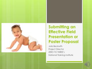 Submitting an Effective Field Presentation or Poster Proposal