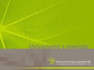 Ustvarjamo z energijo