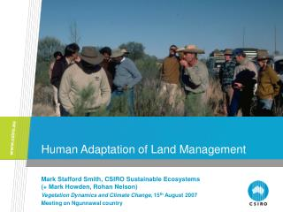 Human Adaptation of Land Management