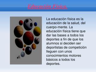 Educación Fisica.