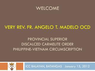 ICC BALAYAN, BATANGAS   January 15, 2012