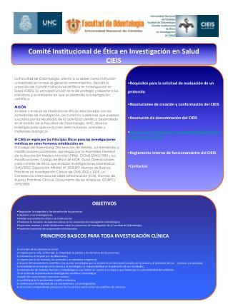 Resoluciones de creación y conformación del CIEIS