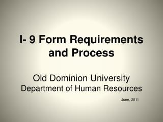 I-9 Form Requirements