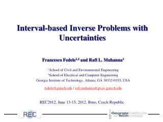 Interval-based Inverse Problems with Uncertainties