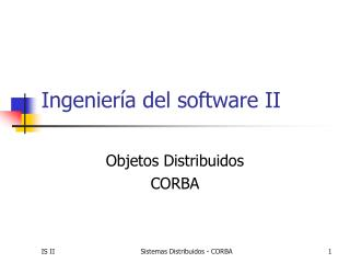Ingenier�a del software II