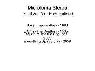 Microfonía Stereo