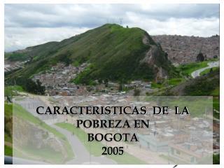CARACTERISTICAS  DE  LA POBREZA EN  BOGOTA  2005