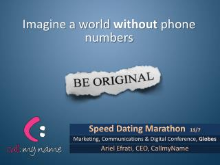Speed Dating Marathon   13/7