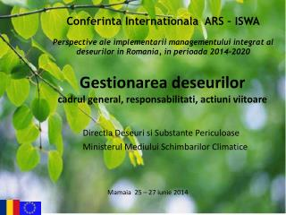 Conferinta Internationala  ARS – ISWA