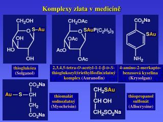 Komplexy zlata v medic�n?