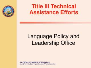 Language Policy and Leadership Office
