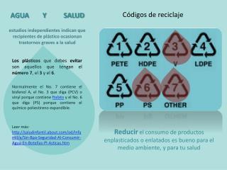 Códigos de reciclaje
