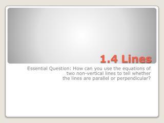 1.4 Lines