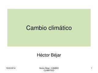 Cambio clim tico