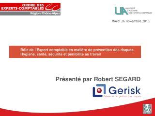 Pr�sent� par Robert SEGARD