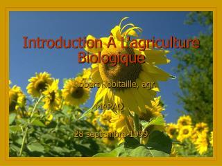 Introduction À L'agriculture Biologique