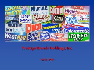 Prestige Brands Holdings, Inc. NYSE:  PBH