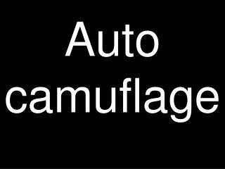 Auto camuflage