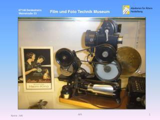 Film und Foto Technik Museum