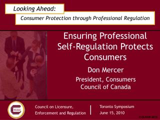 Ensuring Professional Self-Regulation Protects Consumers