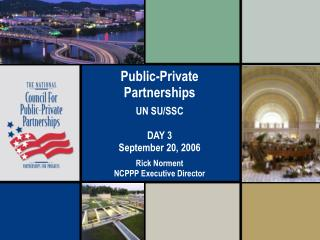 Public-Private Partnerships Defined