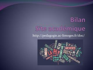 Bilan Site académique