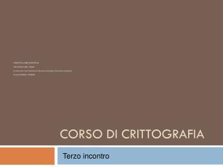 CORSO  DI  CRITTOGRAFIA