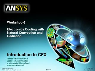 Introduction to CFX