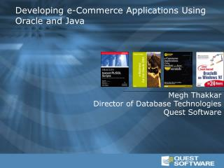 Developing e-Commerce Applications Using Oracle and Java