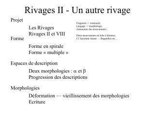 Rivages II - Un autre rivage
