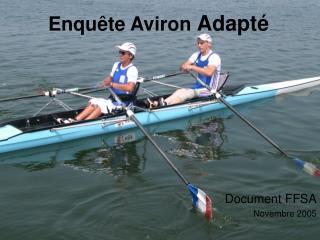 Enqu�te Aviron  Adapt�