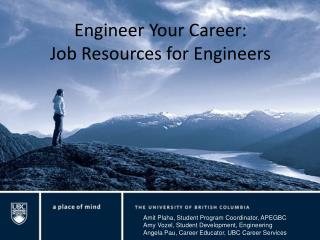 Engineer Your Career:  Job Resources for Engineers