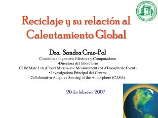 Reciclaje y su relación al Calentamiento Global