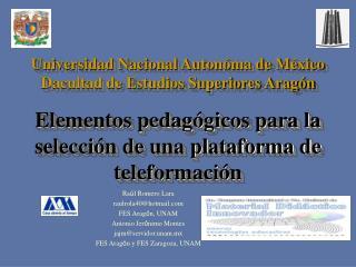 Elementos pedagógicos para la selección de una plataforma de teleformación