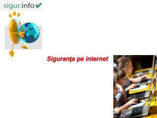 Siguran ţ a pe internet
