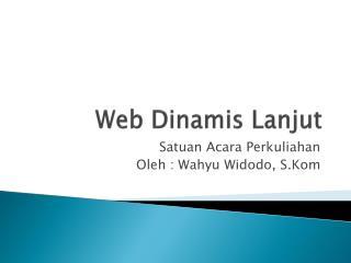 Web  Dinamis Lanjut