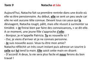 Texte 9 Natacha  et Léa